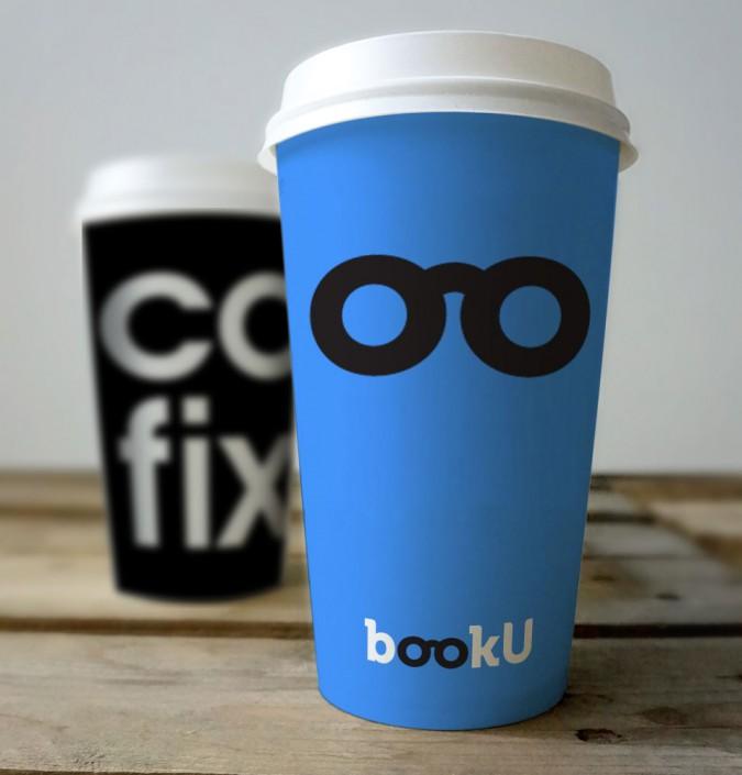 מיתוג כוסות שתיה עבור bookU - הוצאת ספרים אינטרנטית
