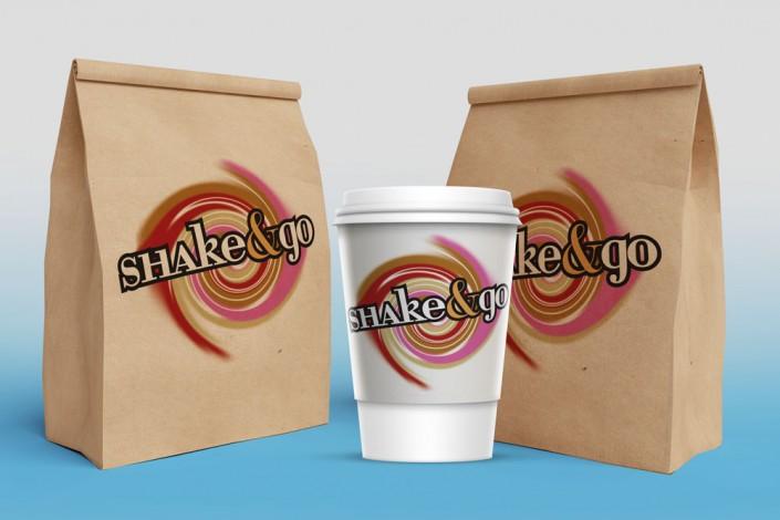 אריזות ממותגות עבור Shake & Go - בר שייקים תל-אביבי